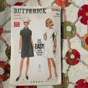 Vintage Butterick Dress Sewing Pattern